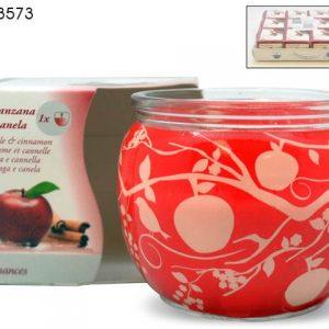 Sveca u teglici jabuka