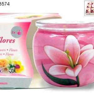 Sveca u teglici cvetni mirisi
