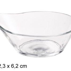 Cinija staklena okrugla 13x12x6cm