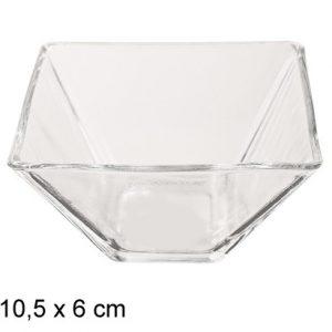 Cinija staklena cetvrtasta 10,5×10,5x6cm