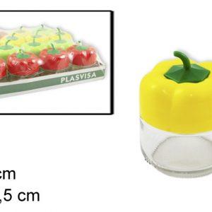 Tegla staklena 250ml paprika 8×10.5cm