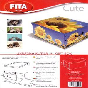 Dekorativna kutija za odlaganje Cute 50x40x25cm