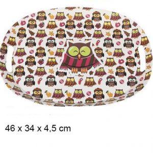 Tacna plasticna sove 46x34x4.5cm