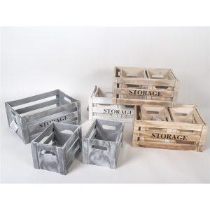 Set 3 kutije drvene