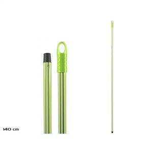 Drska za mop 140cm zeleno-bela